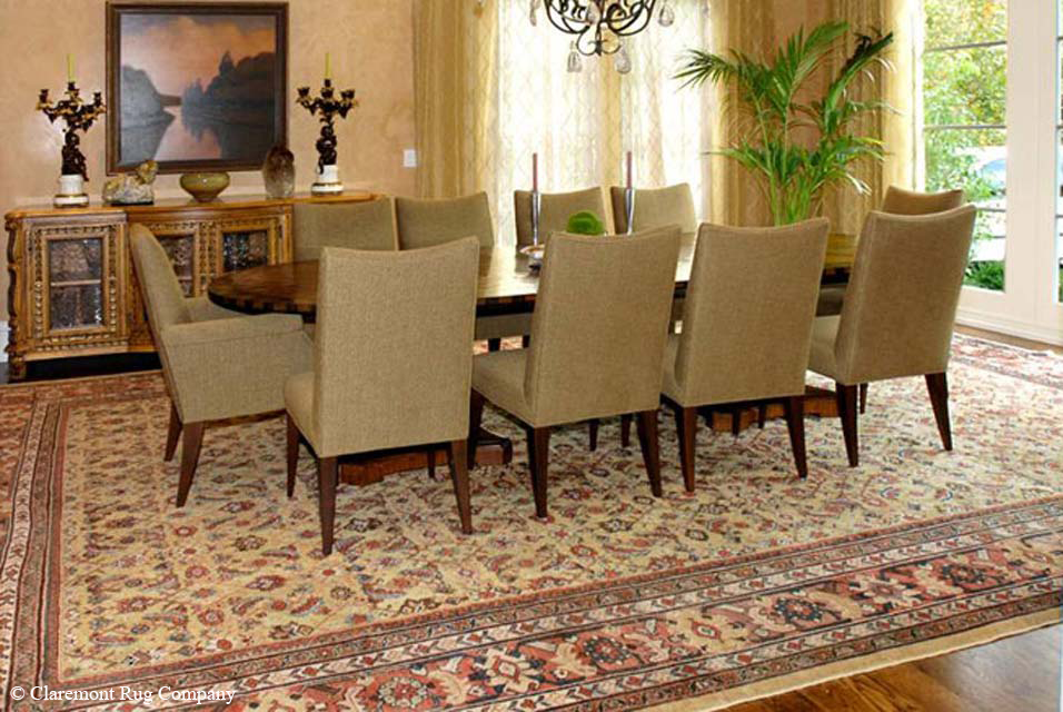 Dining room with Sultanabad rug