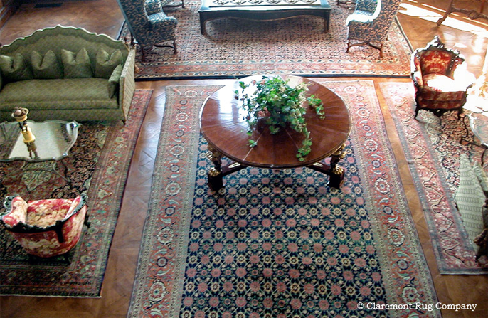 Persian Antique Rugs in a great room