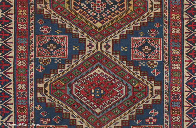 Detail of Caucasian Shrivan Rug