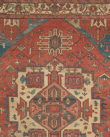 Oriental rug with strong center medallion