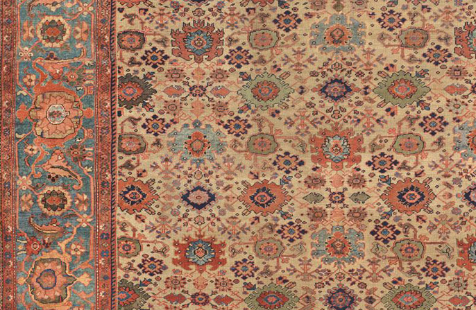 Antique carpet from Sultanabad