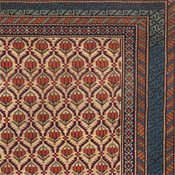 Detail of an antique Caucasian Shirvan Rug