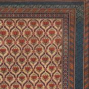 Detail of an antique Caucasian Shirvan Rug