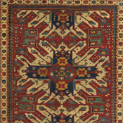 Eagle Kazak (Chelaberd Karabagh), Southern Central, 4ft 7in x 8ft 10in, Late 19th Century