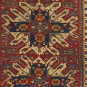 Antique Eagle Kazak Rug