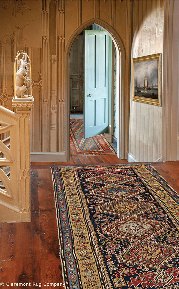 Caucasian Runner Carpets Seamlessly Integrate With Traditional European Decor, Bringing Fascinating Color, Texture and History To Refined Hallway