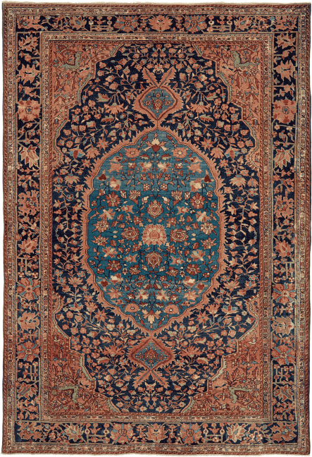 Antique Persian Oriental Collectible Ferahan Sarouk Rug