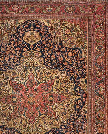 Detail of Antique Persian Ferahan Sarouk