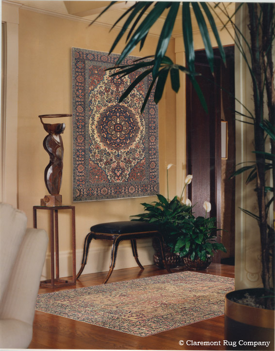 Antique Ferahan Sarouk Rugs as Wall Art