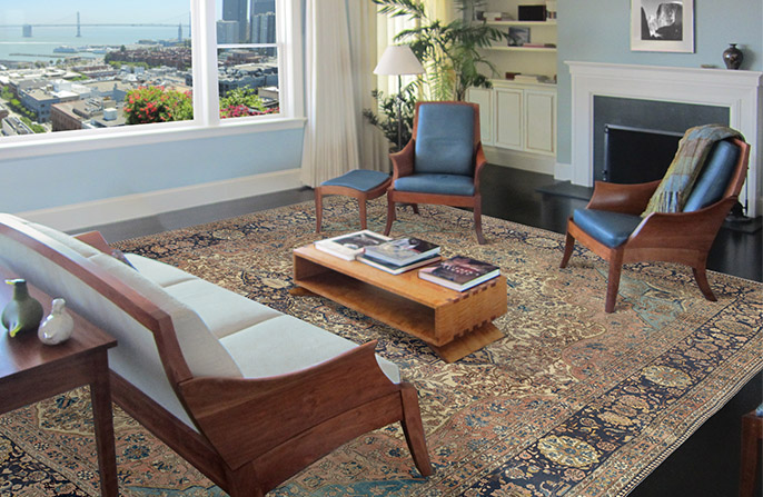 Formal-Antique-Persian-Rug-San-Francisco-Apartment