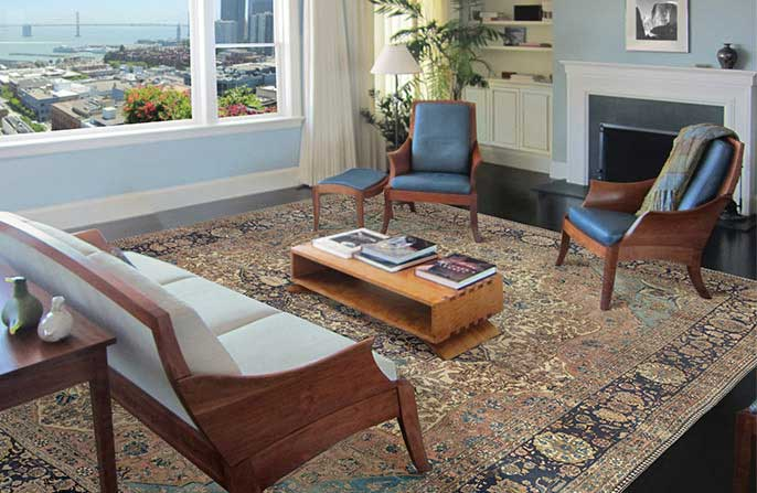 Persian Rugs displayed in a client's home