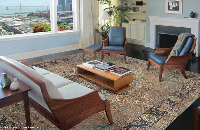 Formal Persian Rug in a San Francisco Apartment