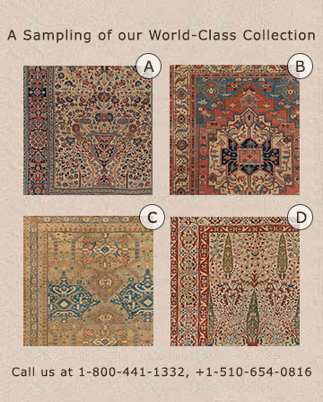 Selection of antique rug types