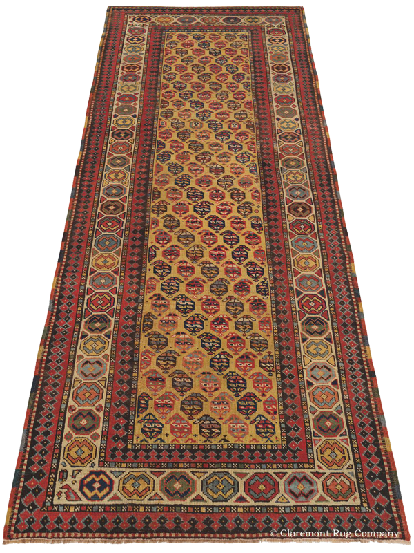 Click to learn more about this Brilliantly Gendje Southern Caucasian Rug
