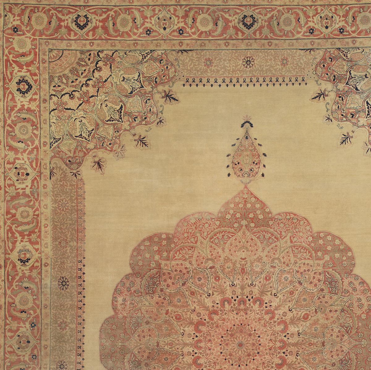 antique Tabriz rug from the famed Hadji Jallili workshop