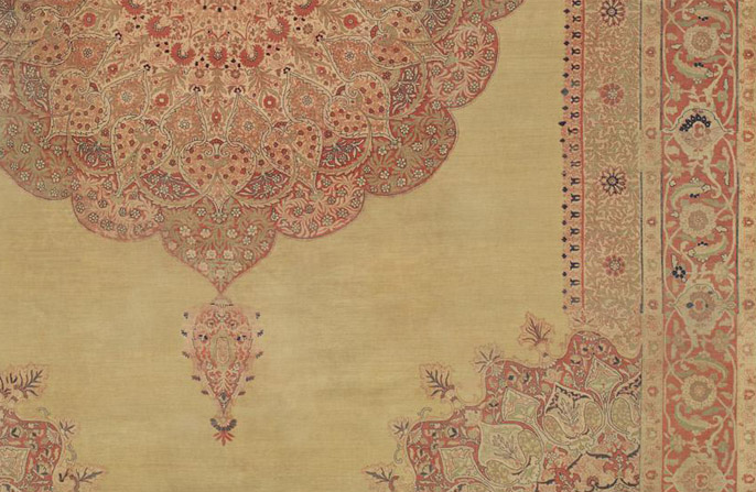 Hadji-Jallili-Tabriz-Floral-Antique-Carpet