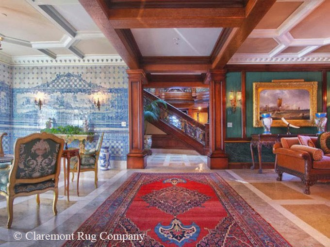 Lake Tahoe Mansion with Spectacular Bidjar Rug