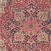 Heriz Antique Persian Rug Detail