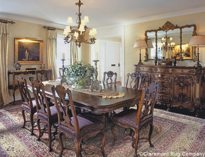 Hinson_Dining Room Dallas Texas antique rugs