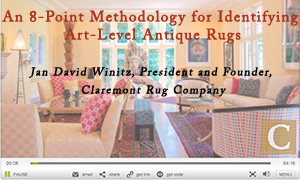 Video on Qualities of Antique Rugs
