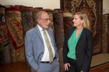 Claremont Rug Company Jan David Winitz and Nancy Brinkley