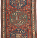 Antique Caucasian Collectible kazak Rug 4ft 3in x 7ft 1in