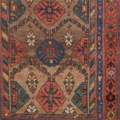 Kurdish Camelhair, 4ft 6in x 9ft 5in, Late 19th Century