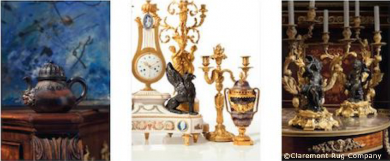 Lots from upcoming Christie's decor sales. Image courtesy of Christie's