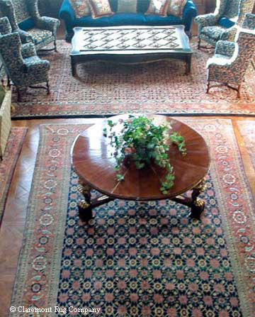 Antique rugs in a living room