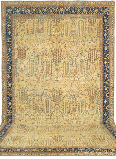 "Antique Palace Sized Ferahan Carpet 15'7"" x 20'2', circa 1875"
