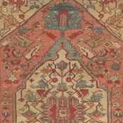 150 year old room size Serapi Persian rug with tremendous movement and depth