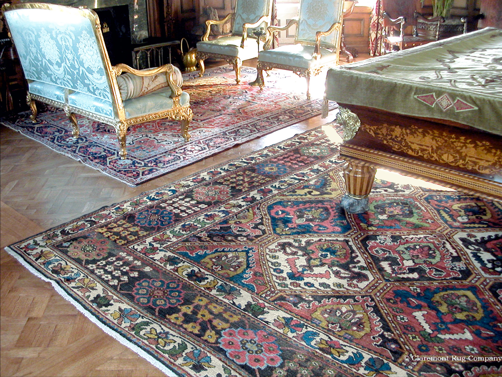 Persian Bakhtiari Rug in Billards Room