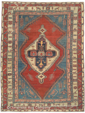 Early 19th century 8-2 X 10-10 Persian Bakshaish