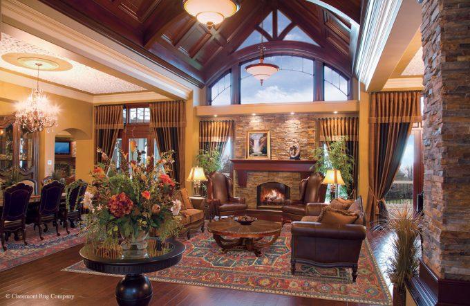 Persian Serapi Antique Rugs in traditional Alberta Livingroom