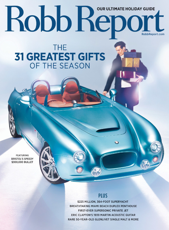 Robb Report Unveils Ultimate Holiday Gift Guide In December Issue (PRNewsFoto/Robb Report)