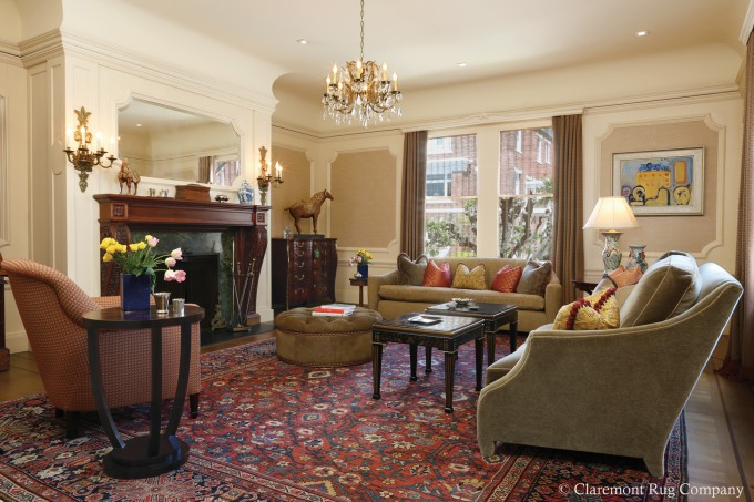 Colors Of Antique Rug Underscore The Art Displayed In