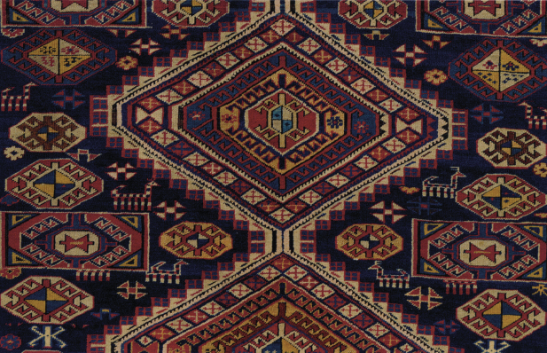 animal forms in 19th century rug