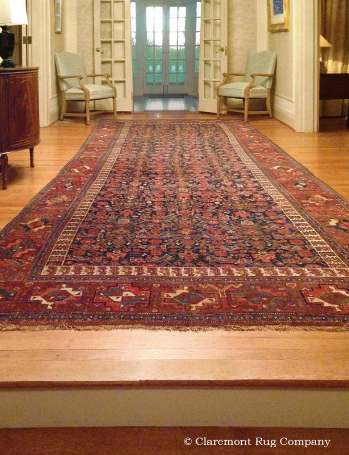 Traditional Philadelphia Entryway with Persian Bijar Kelege Antique rug