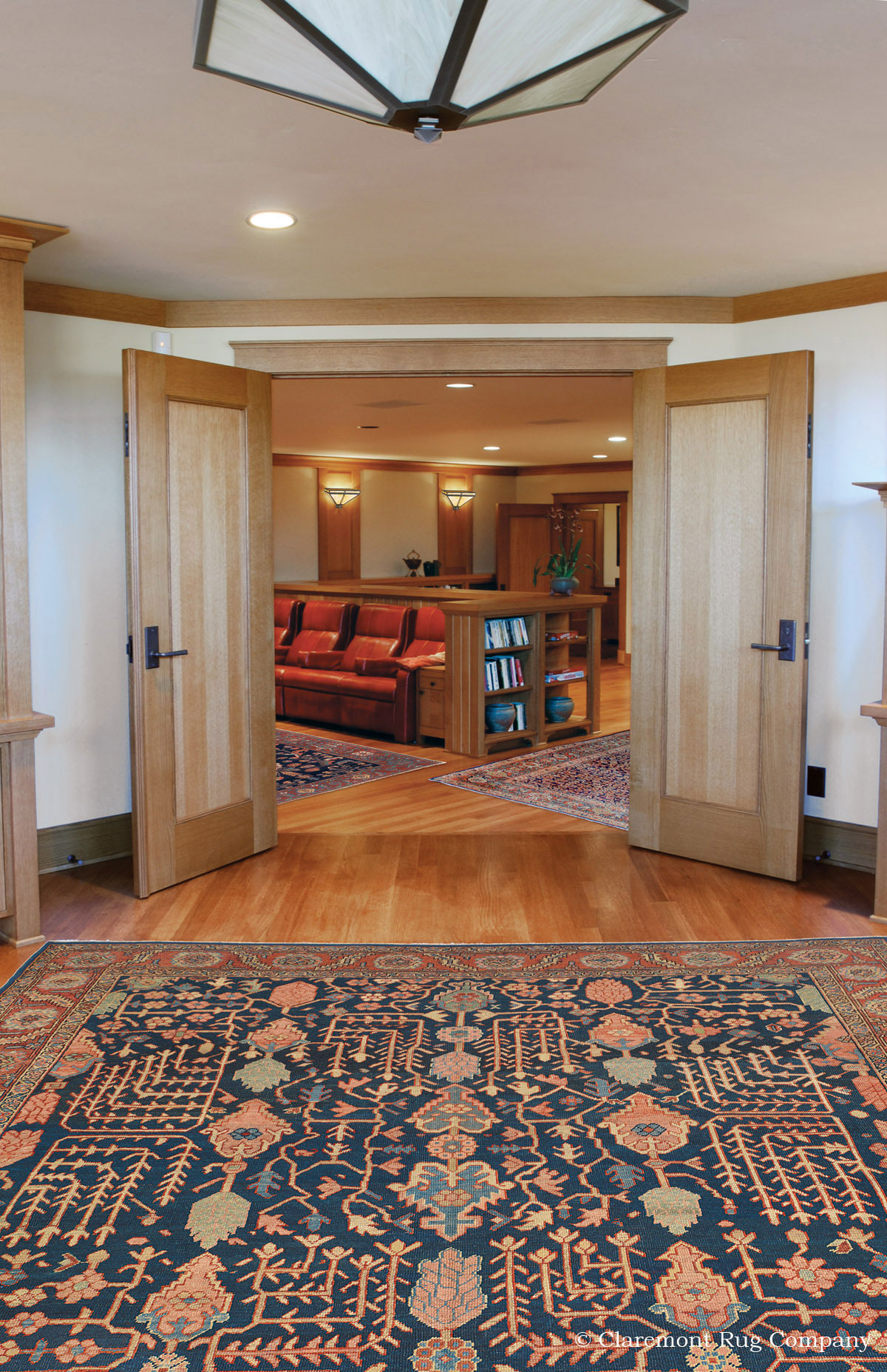 One Of A Kind Vintage Persian Rugs Enhance Luxurious Home