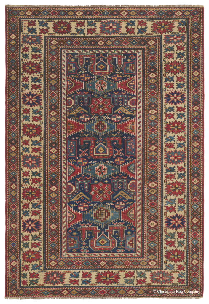 Click to lear more about this Caucasian Gendje Rug