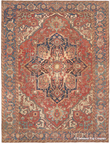 Antique Persian Serapi, 3rd quarter, 19th century.