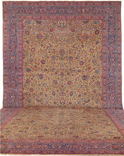 Antique Northeast Persian Omoghil Meshed Rug