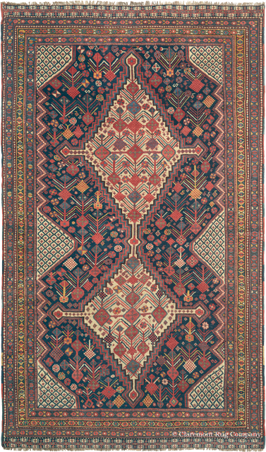 Antique Southwest Persian Qashqai 19th Century Carpet