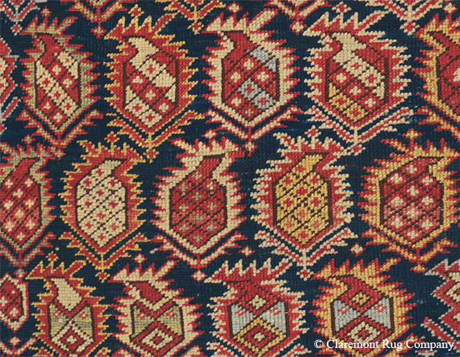 Boteh, 'Seed of Life'. Caucasian Marasali Shirvan, 3ft 10in x 4ft 10in, late 19th century.