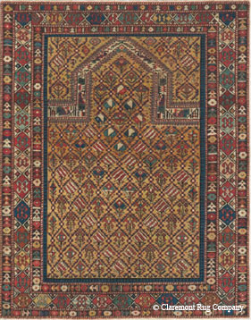 Caucasian Marasali Shrivan Prayer Rug, 3rd quarter, 19th century