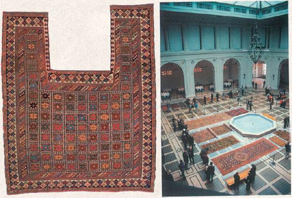 19th century rugs on display in Brooklyn museum