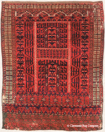 Door rug, Saryk tribe, Central Asia, early 19th century.