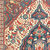detail of arab khamseh rug