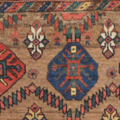 Detail of a Kurdish Camelhair antique rug