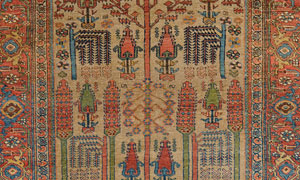 bijar camelhair tree of tree antique rug